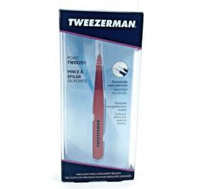 Tweezerman Stainless Steel Point Tip Tweezers in Red NWT New