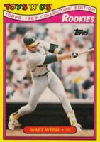 "1989 Topps Toys ""R"" Us Rookies Baseball #32 Walt Weiss Oakland Athletics"