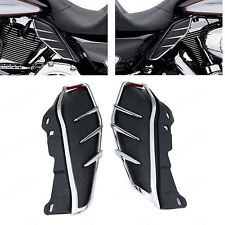 Pair Mid-Frame Air Deflectors Trims For Harley-Davidson Road King FLHR 2009-2016