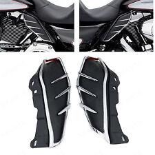 Pair Mid-Frame Air Deflectors Trims For Harley-Davidson Road King FLHR 2009-2016