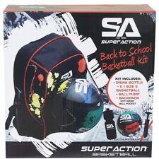 Super Action Back To School Basketball Kids Kit/Backpack//Ball Pump/Drink Bottle