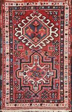 Antique Geometric Traditional Oriental Area Rug Wool Hand-knotted 2x3 ft Carpet