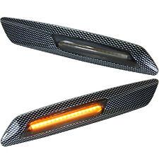 LED Side Indicators Tinted Carbon For BMW 1er E81 E82 E87 E88 X1 E84 [7130-3]