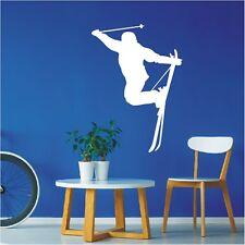 Sombras murales ski hizo esquiador freestyle slalom Sport pared Pegatina Sticker