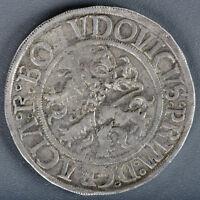 BOHEMIA SCHLICK 1520 1526  ND  THALER RARE HORIZONTAL M TYPE TOP QUALITY