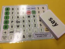 Communication Word Cards And Board - 144 Cards