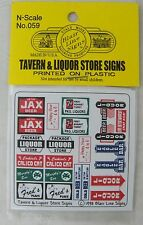 N Scale Tavern & Liquor Store Signs - Blair Line Signs #059