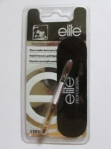 Elite Professional Gold Tipped Angled Tweezers ~ New / Sealed