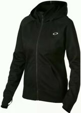 Oakley Women's Back To The Top Hydrolix Poly Hoodie Jacket Black Small