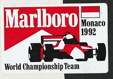 ORIGINAL MARLBORO McLAREN TEAM MONACO GP 1992 SENNA PERIOD STICKER AUTOCOLLANT