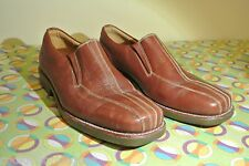 Sandro Moscoloni Leather Slip-On Moccasins Loafers Shoes Tan Size 8Sale!