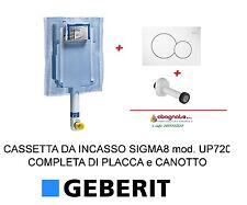 COMPLETO GEBERIT CASSETTA DI SCARICO UNICA + PLACCA COMANDO SIGMA01 + CANOTTO