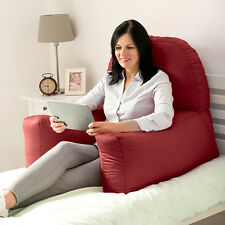 Wine Cotton Chloe Bed Reading Pillow Bean Bag Cushion Arm Backrest Back Support
