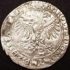 Spanisch Niederlande 4 Stuivers Silber 1551 Carlos V