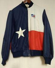 Vtg Walls Texas Sesquicentennial Mens Red Wht Blue Texas Star Lined Shell Jacket