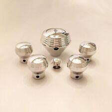 Lokar Art Deco Floor Shift Knob & Matching Dash Knob Set- 700R4 - 4 Speed