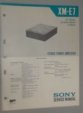 Sony Car 7-Band Equalizer Power Amplifier XM-E7 OEM Service Manual