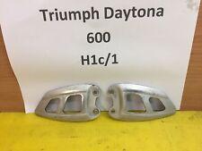 TRIUMPH DAYTONA 600 650 HEEL HEAL PLATES REST BREAKING SPARE TT600