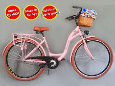 28 pollici donna Amsterdam bicicletta citybike cityrad damenrad CLASSICA VINTAGE ROSA