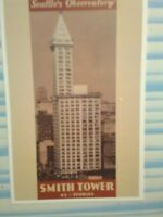 aerial view VINTAGE POST CARD SMITH TOWER SEATTLE WASHINGTON