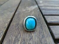 Sterling silver ring with large Amazonite stone size S in U.K. and 9.25 US