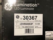 """Set of 2 GE LED10RS6/840E26P LED RECESSED LIGHTING RETROFIT, 6"""" 10W, 4000K 17b"""