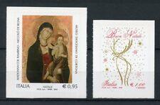 Italy 2016 MNH Christmas Madonna & Child Buon Natale 2v S/A Set Stamps