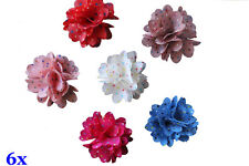 6x DIY Mini Flower Embellishment Craft for Headbands Hair Clip Clothes Shoes New