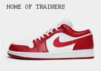 Nike Jordan Air 1 Low White Red Men's Trainers All Sizes