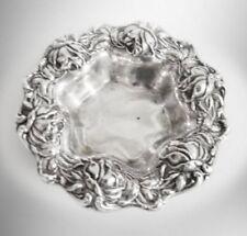 Frank Whiting ornate embossed sterling silver rose design bowl