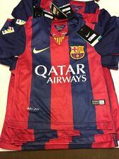 100% Authentic Nike Dri Fit FCB Qatar Airways Soccer Jersey SZ 16 Messi NWT's