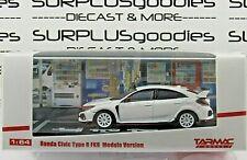 Tarmac Works 1:64 2019 Hobby64 HONDA CIVIC Type-R FK8 White Wheel MODULO Version