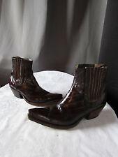 boots/bottines santiags tony mora cuir marron 37