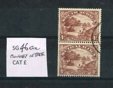 SOUTH AFRICA - 1936 4d BROWN 'MONKEY IN TREE' FLAW SG 46ca FINE USED PAIR