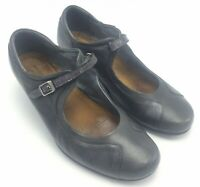 Naot Womens Gray Leather Mary Janes Heels Sz US 8-8.5 EU 39