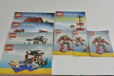 Lego CREATOR Instruction Manuals 5764-3EA   5770-3EA  5766-2EA