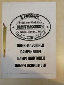 R. Pössiger Dampfmaschinen Katalog - sehr guter Zustand (1310)