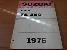 OEM Suzuki 1975 TS250R/J/K/L Parts catalogue