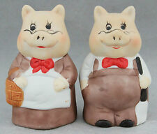 Vintage Salt & Pepper Shakers Set Pigs 1990s Kitchenalia Kitsch Cute Kitchen