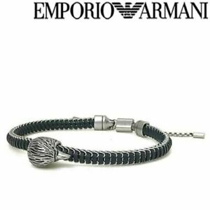 NEW Emporio Armani Mens Eagle Head Bracelet Silver Stainless Steel EGS2660040