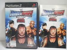 PlayStation2 - WWE 2008 SmackDown vs Raw - PS2. JAPAN GAME. Work fully!50651
