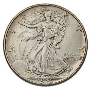 1945 Silver Walking Liberty Half Dollar 50C (Choice BU Condition)