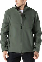 TSLA Men's Full-Zip Softshell Jacket, Waterproof Fleece Lined Athletic Jacket