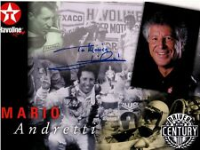 MARIO ANDRETTI hand-signed DRIVER OF THE CENTURY 8x10 color promo w/ UACC RD COA
