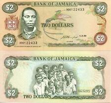 Biilet banque JAMAIQUE JAMAICA 2 $ 1993 NEUF UNC
