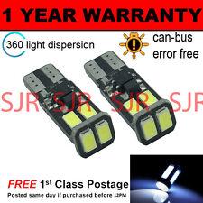 2x W5W T10 501 Canbus Libre De Errores Blanco 6 smd led bombillas interiores