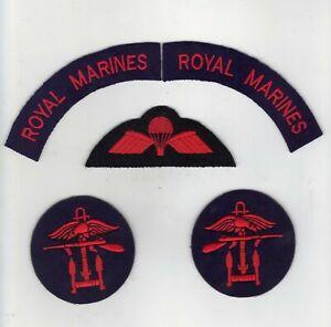 ROYAL MARINES/COMBINED OPERATIONS CIRCULAR/PARACHUTIST WINGS 3 PIECE BADGE SET