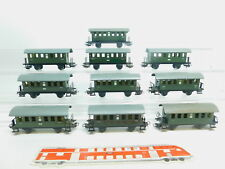 bm85-2 #10 x Märklin H0/AC 4000 tin cars Bi 18 T 2nd Class Green