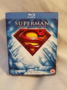 Superman Motion Picture Anthology Box Set 1986-2006 (8-Disc, Blu-ray) With Bonus