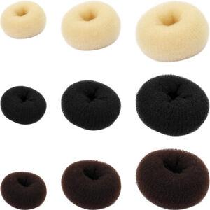 Bun Mesh Hair Shaper Styler Donut Former Ring Bun Maker Size and Colour